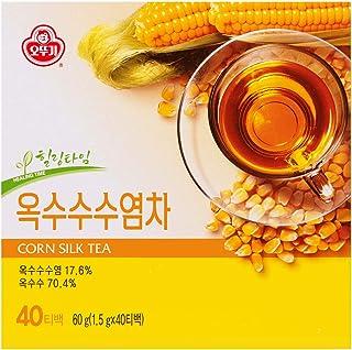 Ottogi Korean Traditional Tea Corn Silk Tea - Caffeine-Free, 100% Pure Oriental Tea, 40 Bags ( 옥수수수염차 )
