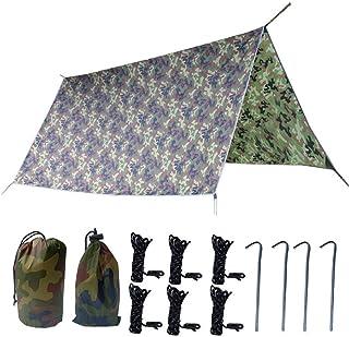 TRIWONDER タープ グランドシート 防水軽量 天幕 キャンプ マット テントシート レジャーシート 収納袋付き