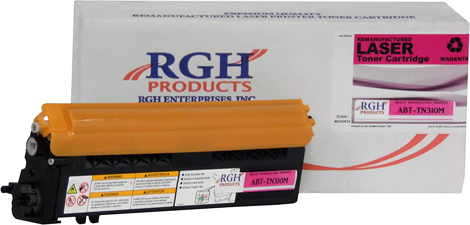 RGH Products Remanufactured Toner Cartridge ABTTN310M Tray Toner Cartridge Replacement for Brother TN310M Printer Magenta