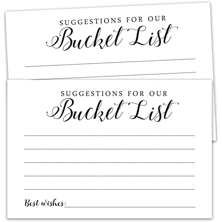 Bucket List Wedding cards Bucket List cards Bucket Printable cards Wedding Guestbook Bucket Card Guestbook Bucket Bucket List cards