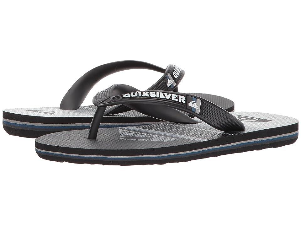 Quiksilver Kids Molokai Highline Slab (Toddler/Little Kid/Big Kid) (Black/Grey/White) Boys Shoes