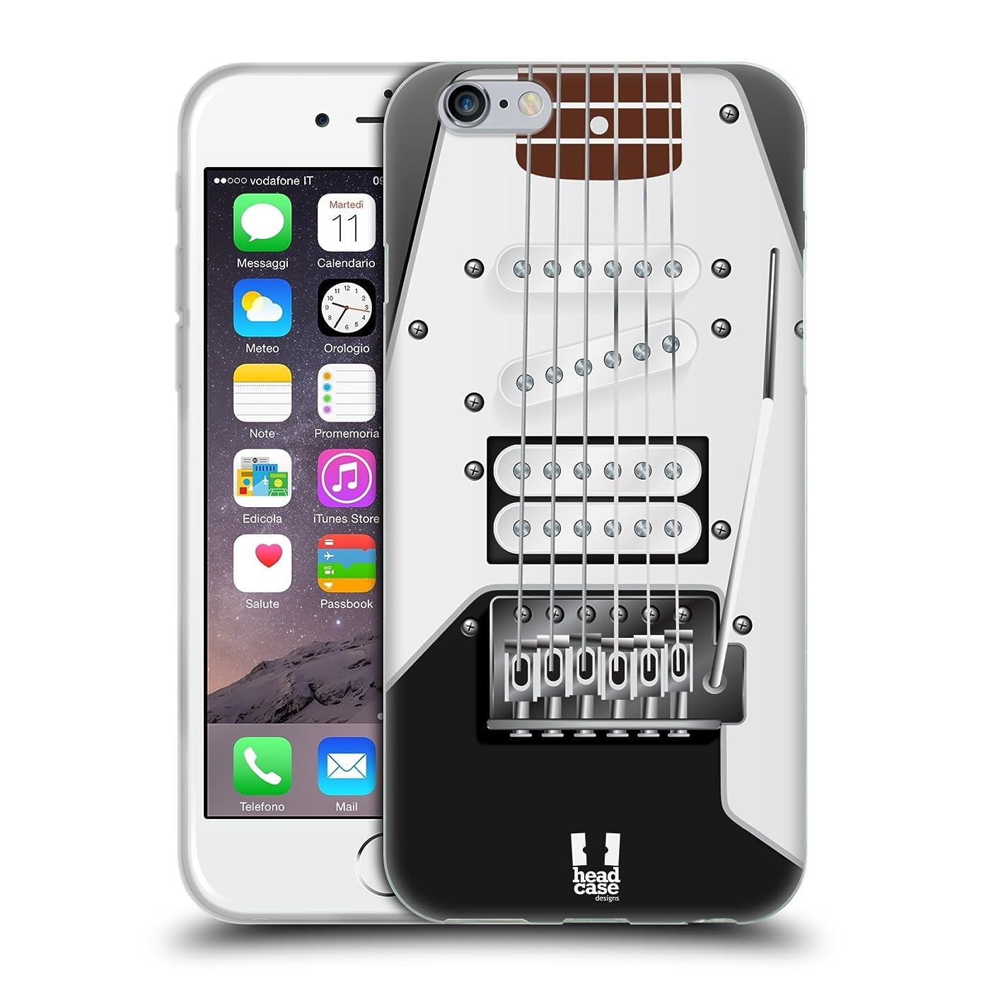 Head Case Designs Black Electric Guitar Soft Gel Case for iPhone 6 / iPhone 6s