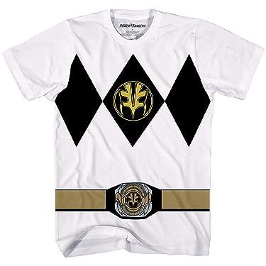 Power Rangers White Ranger Costume Officially Licensed Adult T-Shirt