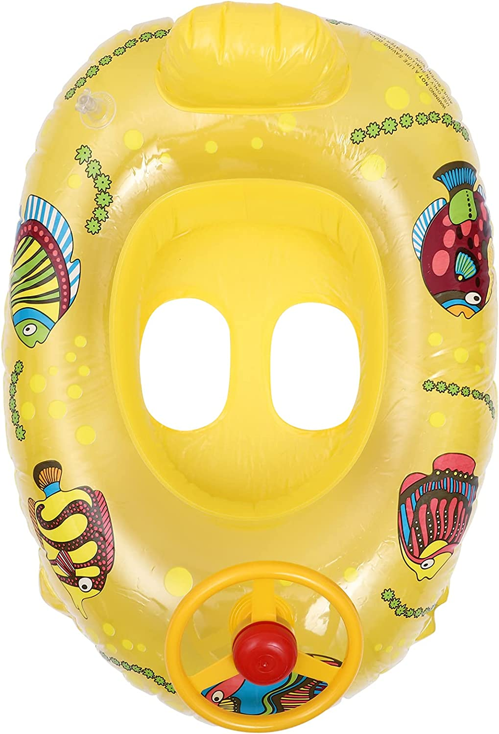 NUOBESTY Super sale period limited Yellow Large discharge sale Baby Swimming Inflatable Shaped Ring Yacht