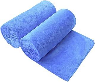 "JML Bath Towel, Microfiber 2 Pack Towel Sets (30"" x 60"") - Extra Absorbent, Quick Drying, Multipurpose Use as Bath Fitness Towel, Sports Towels, Yoga Towel, Blue"