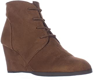 American Rag Womens Baylie Closed Toe Ankle Platform Boots, Chestnut, Size 6.5