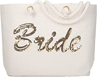 personalized beach bag for bride