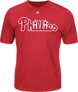 Philadelphia Phillies Wicking MLB Officially Licensed Youth & Adult Authentic Replica Crewneck T-Shirt