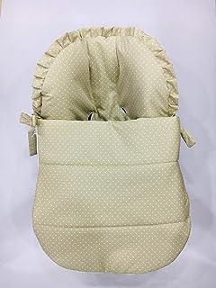 Saco para Maxi Cosi Cabrio en camel con topitos blancos