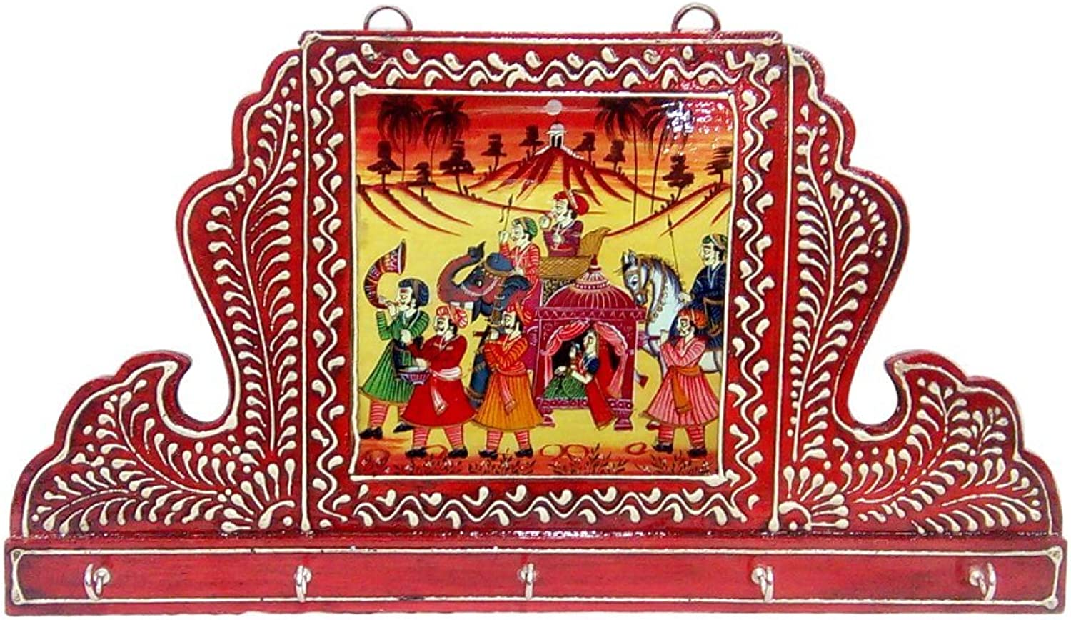 Wooden Rajasthani King Five Key Stand