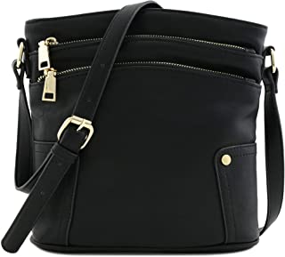 Best three zipper crossbody bag Reviews