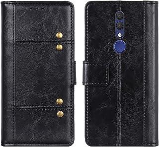 LUSHENG Capa para Alcatel 1x (2019), capa carteira flip de couro PU, capa com fecho magnético com compartimentos para cart...