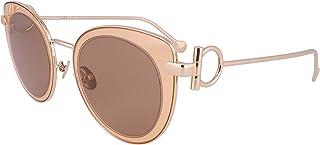Salvatore Ferragamo Ladies Orange Round Sunglasses SF182S 230 50