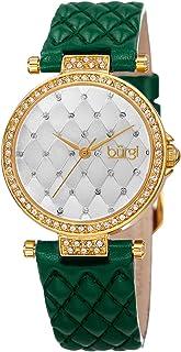 Burgi Women's Leather Band Watch