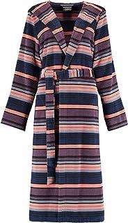 multicolor 7081 mit Kapuze Farbe Cawö Bademantel Damen Frottier Art