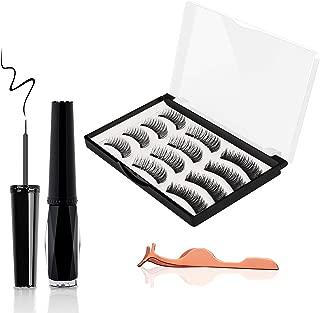 Magnetic False Eyelashes, JDO Upgraded 3D Magnetic Eye Lashes (12 PCS), Reusable Handmade Fake Eyelashes No Irritation No Allergy 3 Styles Lashes with Applicator for Party Dating Wedding
