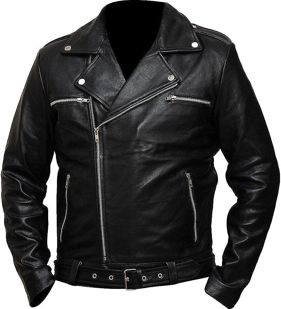 Real Leather The Walking Dead Biker Style Negan Jacket - Season 7