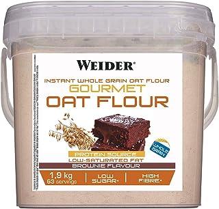 comprar comparacion Weider Oat Gourmet. Harina de Avena Integral. Fuente de proteína con bajo contenido en azúcares. Sabor Brownie (1,9 kg)