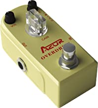 AZOR Vintage Overdrive Guitar Effect Pedal Classical Electronic Pedal with True bypass Aluminum Alloy Golden AP-320
