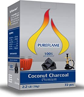 Pure Flame Eco Friendly Coconut Charcoal Barbecues & Other Uses 1kg Pack
