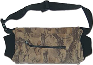 Natural Gear Fleece Camo Hand Warmer Muff and Fanny Pack with Elastic Cuffs and Zippered Pocket for Men, Great for Camping, Hunting, Fishing, and More, Windproof and Waterproof