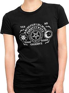 Ouija Board Womens T Shirt, Witchcraft Shirt, Gothic Style Design Shirt, Short Sleeve Black Summer Shirt