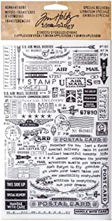Remnant Rubs by Tim Holtz Idea-ology, Special Delivery, 4.75 x 7.75 Inch, 2 Sheets, Black/White TH93188