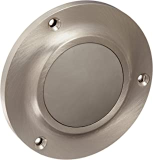 Rockwood 415.26 Brass Convex Solid Cast Wall Stop 8-32 x 2 RH MS Fastener with Toggle Bolt 4 Diameter Polished Chrome Plated Finish 8-32 x 2 RH MS Fastener with Toggle Bolt 4 Diameter Rockwood Manufacturing Company