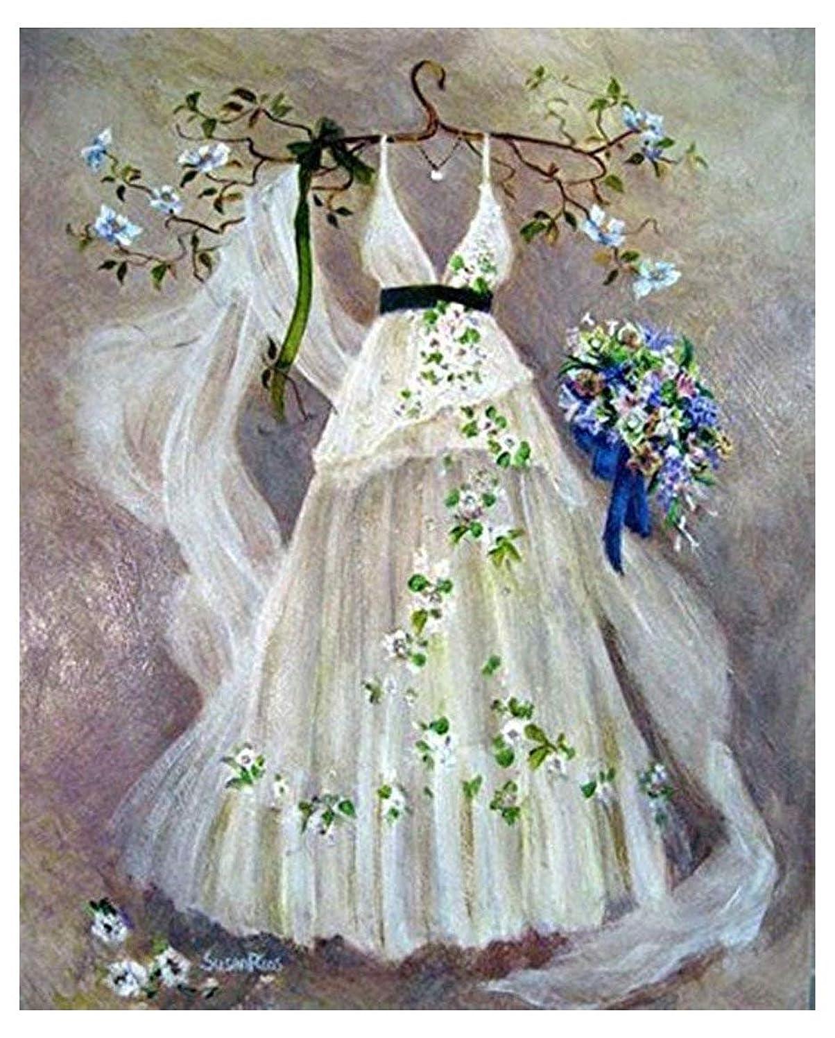 5D DIY Crystal Diamond Rhinestone Painting By Number Cross Stitch Embroidery DIY Craft Romantic Wedding (30x40) CM