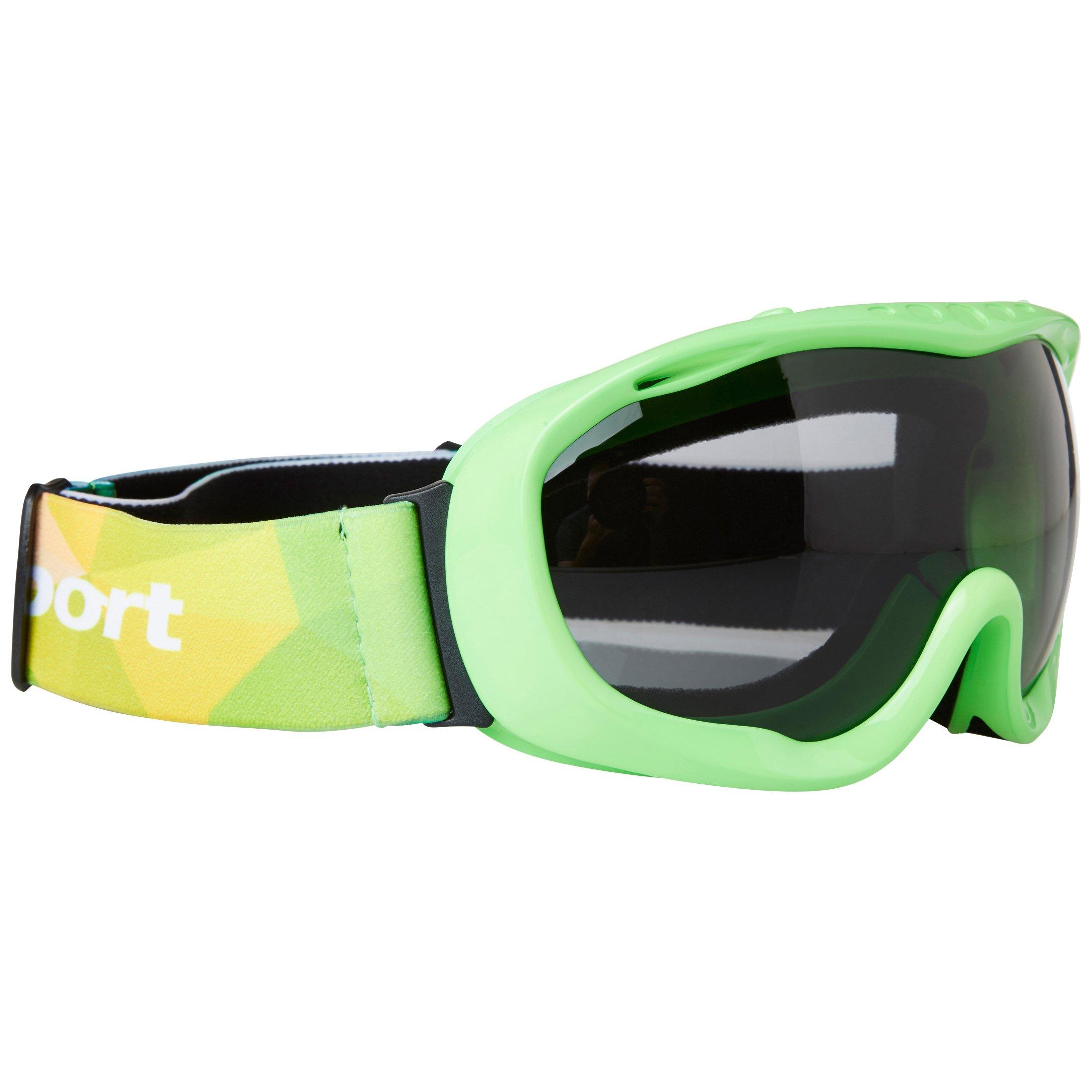 Ultrasport Skibrille / Snowboardbrille mit Antibeschlag-Scheibe, grün/grau