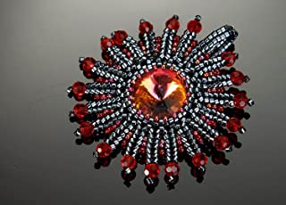 Pendant Made of Beads & Crystal