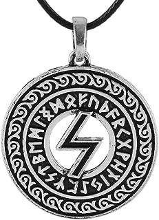 Viking Sowilo Rune Pendant Necklace Women Men Norse Jewelry