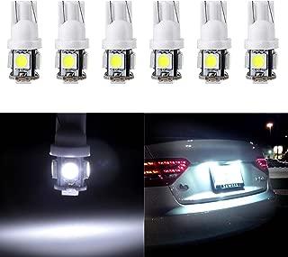 cciyu License Plate Light, T10 W5W Wedge 168 194 LED Bulb 6000K Xenon White,6Pack