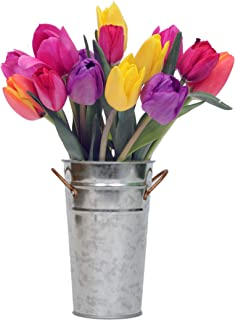 Stargazer Barn - Happy Bouquet - 15 Stems of Bright And Cheerful Tulips With Vase - Fresh From Farm