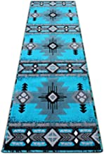سجاد ماسادا، تصميم جنوب غرب أمريكان أصلي فيروزي, 2 Feet X 7 Feet Runner