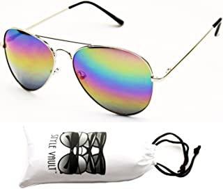 A120-vp Style Vault Aviator Pilot Metal Sunglasses