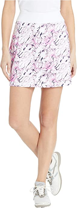 "18"" Knit Liquid Pink Printed Skort"