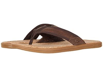 UGG Seaside Flip (Chestnut Leather) Men