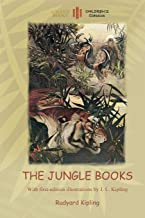 The Jungle Books: With Over 55 Original Illustrations (Aziloth Books)