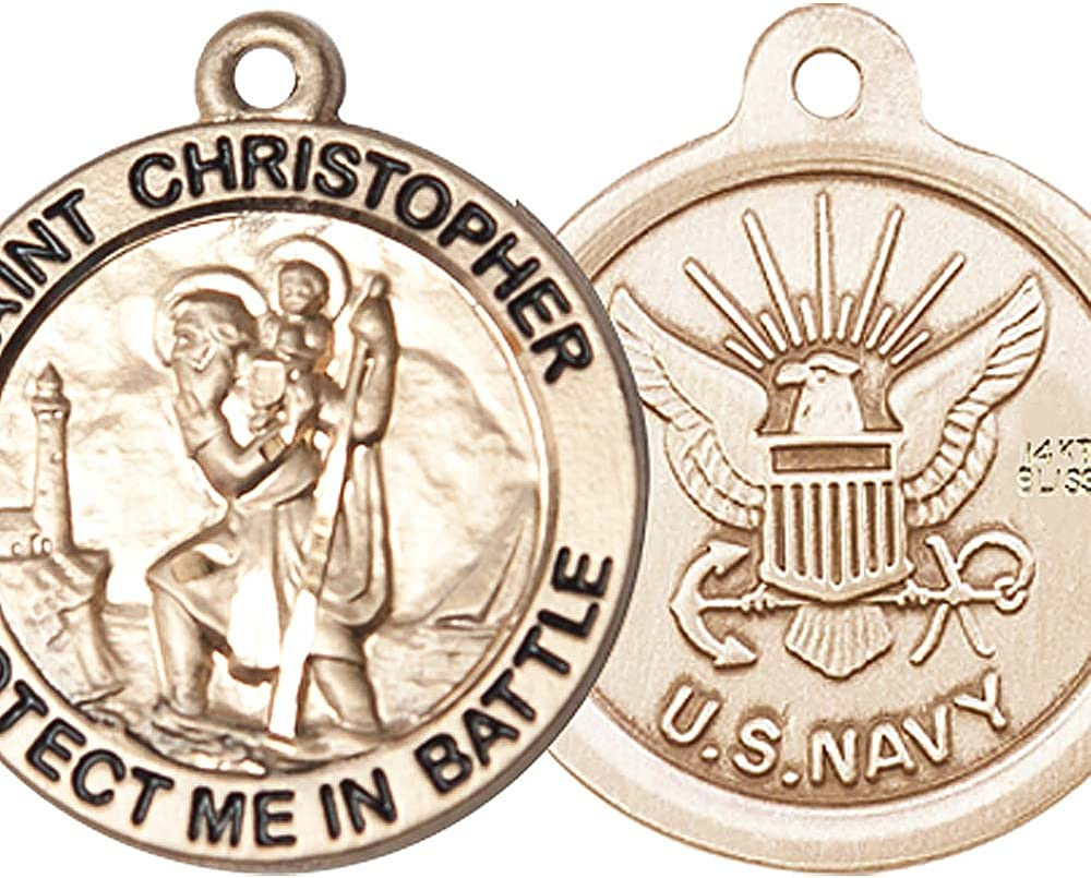 F Selling rankings A Dumont 14kt Gold St. Patron of Saint Trav Christopher Limited time cheap sale Medal.