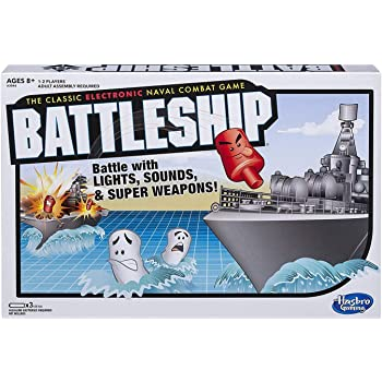 Hasbro Gaming Battleship Game Electronic Board Game For Kids Ages 8 And Up, 2 Players, Strategy Naval Combat Game