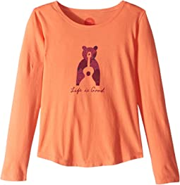 Bear Guitar Smiling Smooth T-Shirt Long Sleeve (Little Kids/Big Kids)