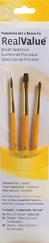 カレッジからに変化する感嘆符PRINCETON(プリンストン) Brush Set-9101 3本セット