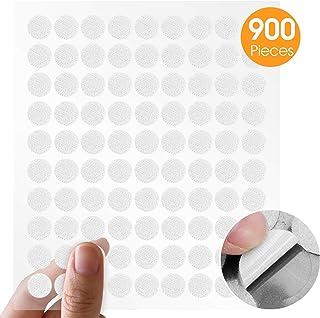 Mture Monedas Puntos Adhesivos puntos de 900 Unidades 10mm Lunares Adhesivo 450 pares (Blanco)