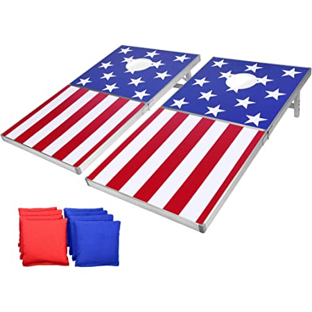Official Regulation Cornhole Bean Bags Set 8 All Weather American Flag And Tote