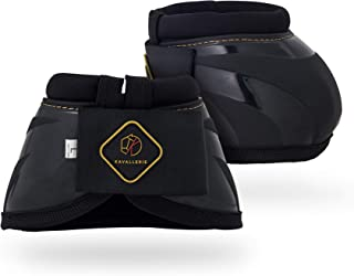PRO-K Soft No Turn Bell Boots Ultimate Hoof Protection, with Anti-Spin Fastening System, Durable & Prevents Overreaching
