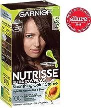 Garnier Nutrisse Ultra Coverage Hair Color, Deep Dark Brown (Sweet Pecan) 400 (Packaging May Vary), Pack of 1