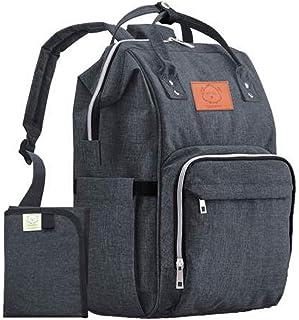 Diaper Bag Backpack - Large Waterproof Travel Baby Bags (Mystic Gray)