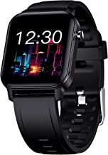 Smart Watch, Taotique Touch Screen Fitness Trackers with Blood Oxygen, HR Monitor, Sleep Tracker, Step and Calorie Counter, SMS Call Notification Waterproof Pedometer Watch for Android & iOS - Black