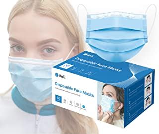 Reli. Face Masks (50 Masks) Disposable Face Mask Protection with Filter Layer - 3 PLY - Breathable, Ear Loop Mask 50 Pack ...